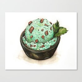 Mint Chocolate Chip Ice Cream Canvas Print
