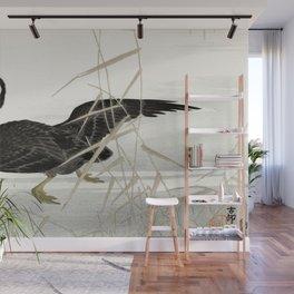 Ohara Koson - Japanese cormorant catching fish Wall Mural