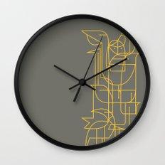Geometric Birds Wall Clock