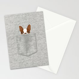 Pocket Boston Terrier - Red Stationery Cards