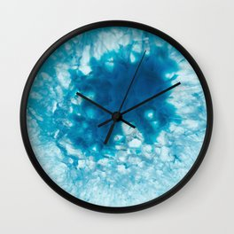 Crackling ice Agate Wall Clock