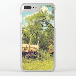 Army Wagon and Mule c.1840s Clear iPhone Case