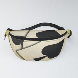Ace of spades on textured background Fanny Pack