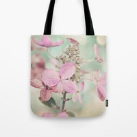 blush Tote Bags featuring Blush  by Laura Ruth