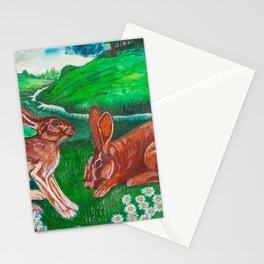 Rabbit Paradise Stationery Cards