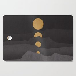 Rise of the golden moon Cutting Board