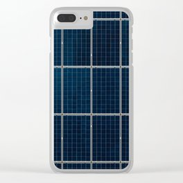 Solar Panel Pattern (Color) Clear iPhone Case