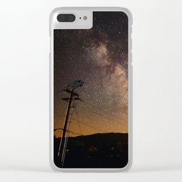 The Salty Raven of Cape Meares Milky Way Clear iPhone Case