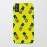 pineapples iPhone & iPod Cases featuring Pineapples by Ella Lama