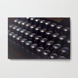 Letters typewriter Metal Print