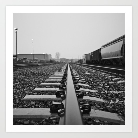 Industry rail Art Print