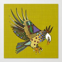 jewel eagle chartreuse Canvas Print