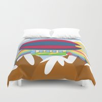 led zeppelin Duvet Covers featuring ZEPPELIN (AERIAL VEHICLES) by Alapapaju