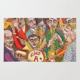 All That Jazz  - New Orleans Jazz Band Rug