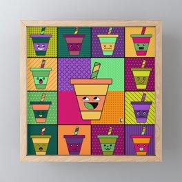 Kawaii Pop Drink Framed Mini Art Print