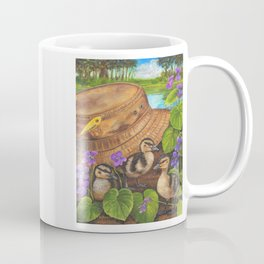 Ducklings and Old Fishing Hat Coffee Mug