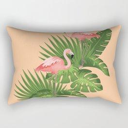 Two Flamingo Tropical Rectangular Pillow