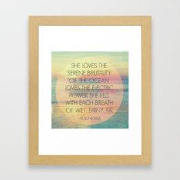 She Loves... Framed Art Print