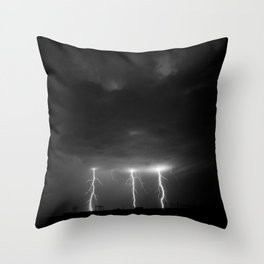 Lightning #2 Throw Pillow