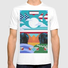The Long View Mens Fitted Tee MEDIUM White