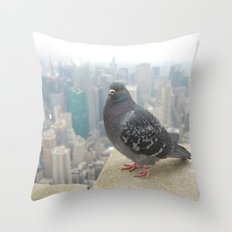 New York Pigeons Throw Pillow