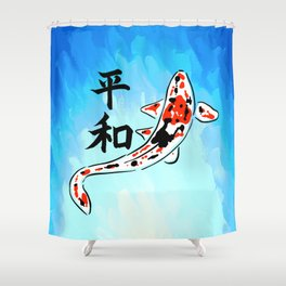 Peace Koi Shower Curtain