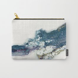 Higher abstract fluid art flow painting white negative space with blues Carry-All Pouch