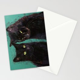 Two Black Cats Stationery Cards