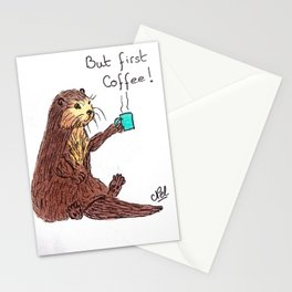 Otter & coffee! Stationery Cards