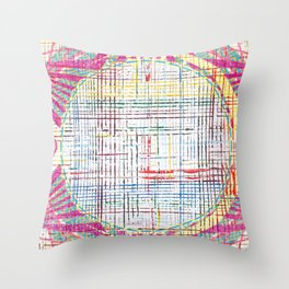 The System - pink motif Throw Pillow