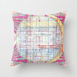 The System - pink motif Throw Pillow