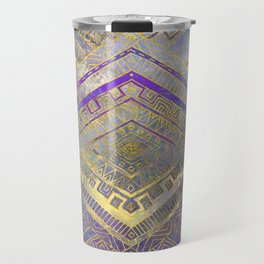 Tribal  Ethnic Boho Pattern gold and gentle purples Travel Mug