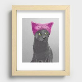 Pussy Hat Recessed Framed Print