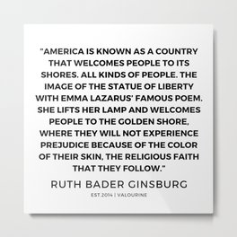 10      191115   Ruth Bader Ginsburg Quotes Metal Print