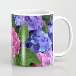 Abundant Rose Blue Lilac Pink Hydrangea Hortensia Flower Coffee Mug