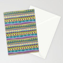 Stripey-Jardin Colors Stationery Cards