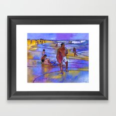 Boogieboarding at Sandy's Framed Art Print
