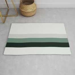 aqua || gray horizon Rug