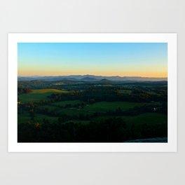 Glassy Mountain, South Carolina Art Print