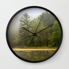 Sunrise Fog Landscape Wall Clock
