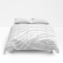 ZEBRA GRAY AND WHITE ANIMAL PRINT Comforters