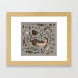 Weasel and Hedgehog Framed Art Print
