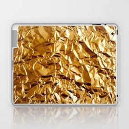 Crumpled Golden Foil Laptop & iPad Skin