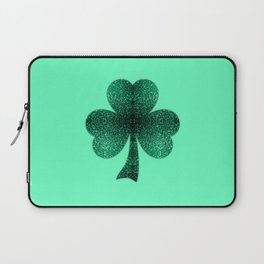 Emerald green shamrock clover sparkles Laptop Sleeve