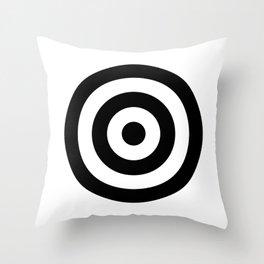 Classic Modern Bullseye Throw Pillow