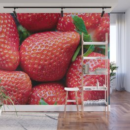 Fresh healthy strawberries Wall Mural