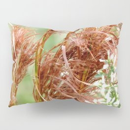 Common reed and white flowers Pillow Sham