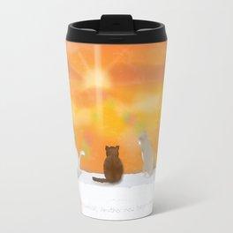 Cats and Sunrise Travel Mug