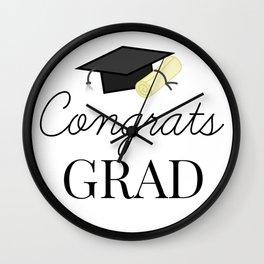 Congrats Grad - congratulations for Graduation Wall Clock