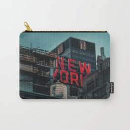 New York red neon Carry-All Pouch